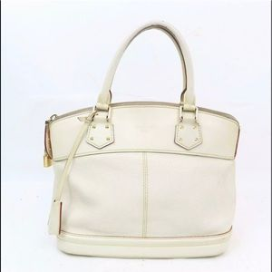 Louis Vuitton White Suhali Lockit PM